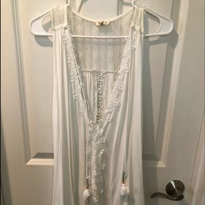New POL Crochet & Lace Tank Tunic Boho